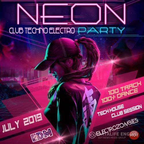 VA -Neon Electro Techno Party –  (2019)  [mp3]